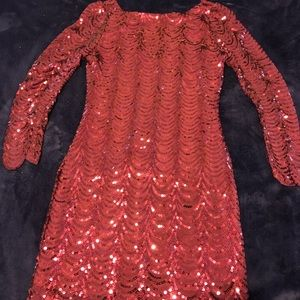 Red sequins dress by Charlotte Russe